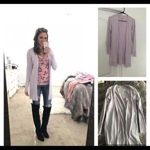 Lilac open cardigan